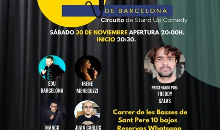Cómicos de Barcelona / Circuito de Stand Up Comedy 30-11-19